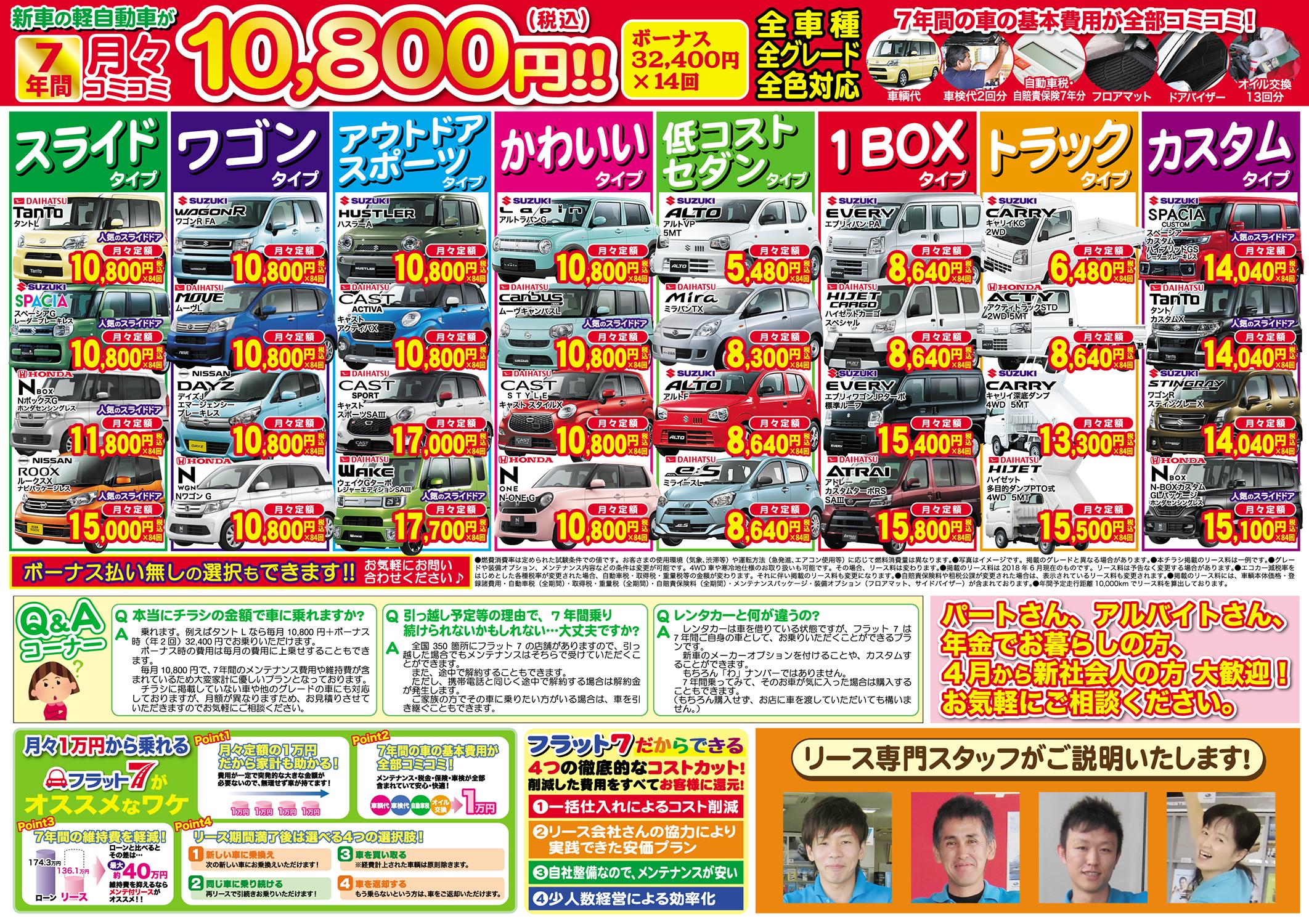 解決!月収15万円からの理想の新車探しフェア!