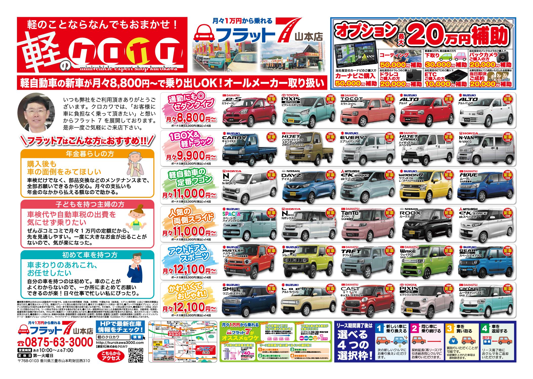 【フラット7】オプション最大20万円補助